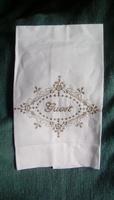 Linen & Cotton Guest Towel (White)