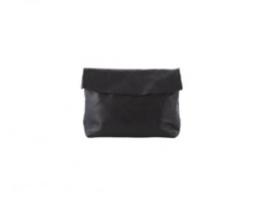 Small Black Leather Pochette