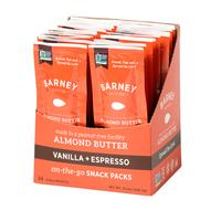 Barney Butter Almond Butter Vanilla + Espresso Snack Packs