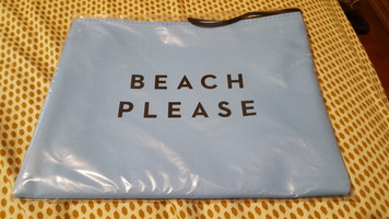 "Molly ""Beach Please"" Zip Pouch"