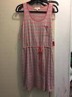 Olive and Oak coral and gray tank dress
