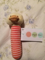 Angel Dear Duckie soft stick rattle