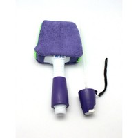 Wipe and Shine Spray Bottle Handle with Microfiber Cloth