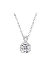 """Alessandra """"Vision"""" 18k White Gold Plated Pendant Necklace"""