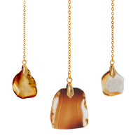 """Amber """"Eternal"""" 18k Yellow Gold Plated Necklace"""