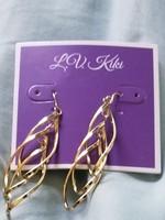 Gold Toned Leaf Earrings