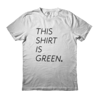 Under the Canopy This Shirt is Green