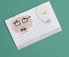 Brain and Lightbulb Bookmarks