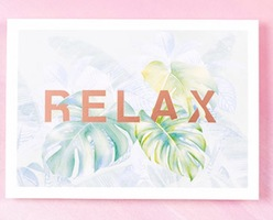 Shelley Steer Rose Gold Foiled Print - Relax