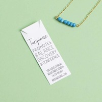 Kris Nations Mystic Bar Necklace - Turquoise