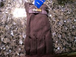 Men's fleece gloves, no size listed