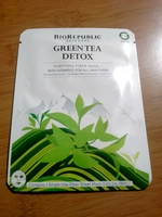 BIOREPUBLIC GREEN TEA DETOX Purifying Fiber Mask