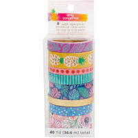 Amy Tangerine On A Whim Washi Tape Set of 8