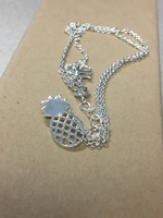 LuxePineapple silver pineapple necklace