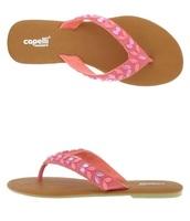 Beaded Strap Pink Flip Flop Size 8