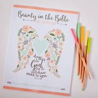 paige tate & co beauty in the bible adult coloring book