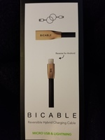 BiCable Reversible Hybrid Charging Cable (iOS and Android)