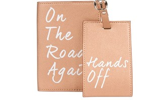 Understated Leather Passport Holder and Luggage Tag