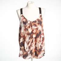 Chestnut print swing tank - small