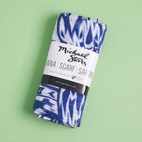 Michael Stars Blue & White Ruana