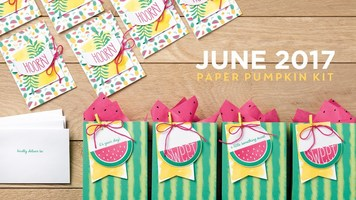 """June 2017 - """"One in a Melon"""" papercraft kit"""