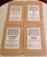 Tea Sampler Lot-Moroccan Mint, After Noon Delight, Om, and African Summer