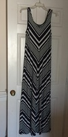 Market and Spruce Navy White Chevron Maxi
