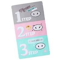 Holika pig nose clear black head 3 step kit