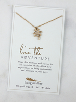 Summer Inspiration Necklace by Lucky Feather - Palm