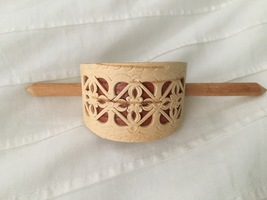 Carved Birchwood Hairpin by Masterpeace