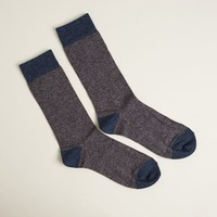 Keep It Simple Socks - Gray with Blue Accents