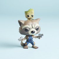 Marvel Corps Guardians Rocket and Groot Exclusive Funko Pop