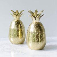 Pineapple Co Brass Tumbler
