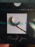 Wanderlust + Co Brushed Goldtone Crescent Hair Pin