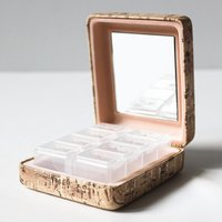Danielle Creations Cork Vitamin & Pill Box