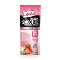 Flapjacked Protein Smoothie with Greek Yogurt - Strawberry Banana