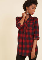 At-home Editor plaid tunic - SMALL