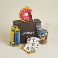 Loot pet July partial box- ninja turtles bandana & peanut butter bubbles