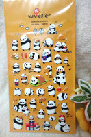 Suatelier Puffy Panda Stickers