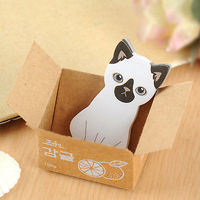 Siamese Cat In A Box Sticky Notes