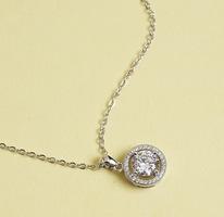 """Ariel """"Tempest"""" 18k White Gold Pendant Necklace"""