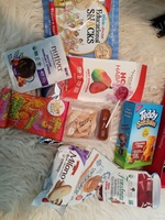 Lot of snack products
