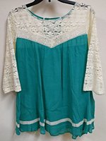 Umgee Lace Peasant Top