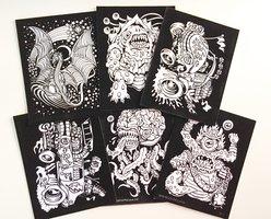Monsters Velvet Coloring 6-Pack