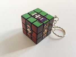 """Bad Guys"" Rubix Cube Keychain"