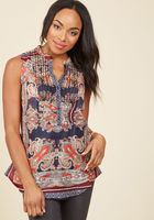 On Your Roam Time Cotton Tunic in Paisley