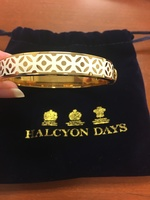 Halcyon Days Cream and Gold Rose Bangle
