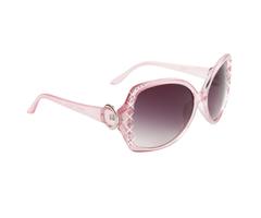 Pink Rhinestone Retro Sunglasses
