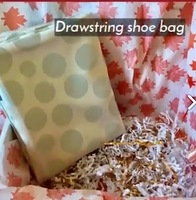 Drawstring Shoe Bag by Textile-Custom
