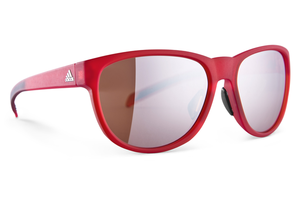 ADIDAS - WILDCHARGE RED MATTE / BLACK SUNGLASSES, LST ACTIVE SILVER LENSES